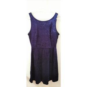 Divided H&M EUC velvety blue dress with V back